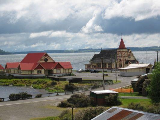 Maori kerkje in Ohinemutu Rotorua